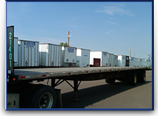 White trailers boxes shipping